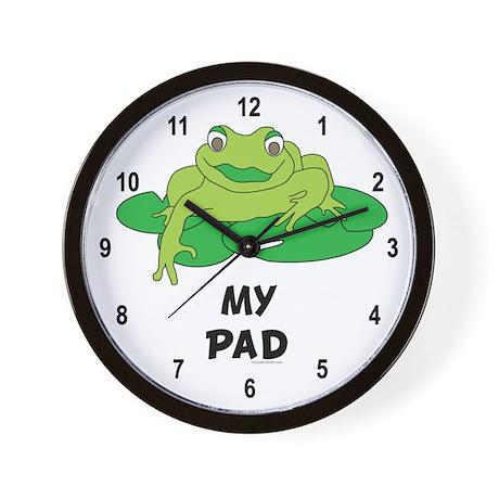 My Pad Frog Wall Clock