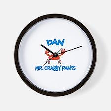 Dan - Mr. Crabby Pants Wall Clock