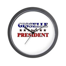 GISSELLE for president Wall Clock