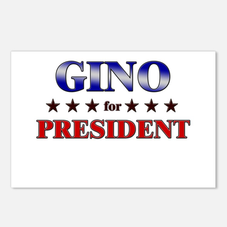GINO for president Postcards (Package of 8)