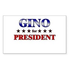 GINO for president Rectangle Decal