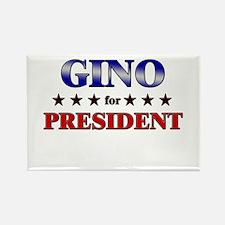 GINO for president Rectangle Magnet
