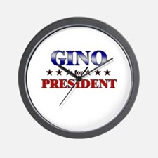 GINO for president Wall Clock