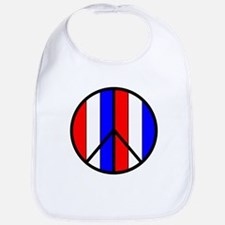 Red White Blue Peace Sign Bib