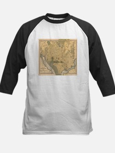 Vintage Map of Washington D.C. (18 Baseball Jersey