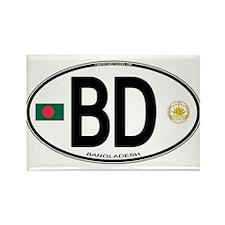 Bangladesh Euro Oval Rectangle Magnet
