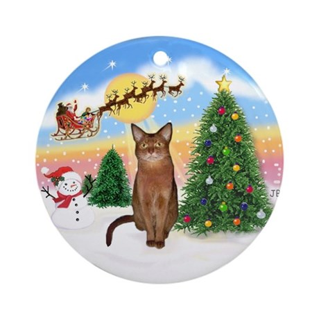 Take Off (1) Abyssinian (R) Ornament (Round)