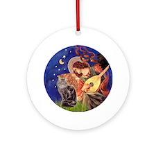 Mandolin Angel & Maine Coon (10) Ornament (Round)