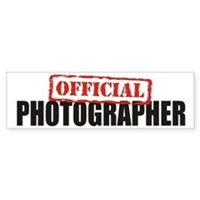 Official Photographer Bumper Bumper Sticker