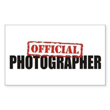 Official Photographer Rectangle Decal