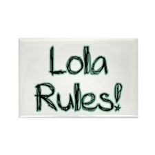 Lola Rules! Rectangle Magnet (100 pack)