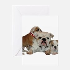 BULLDOG SMILES Greeting Cards