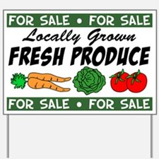 Fresh Produce For Sale Yard Sign