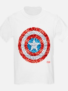 Captain America Pixel Shield T-Shirt