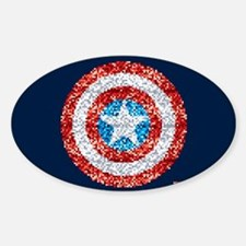 Captain America Pixel Shield Decal