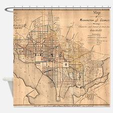 Vintage Map of Washington D.C. (187 Shower Curtain
