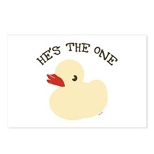 RUBBER DUCKY HE'S THE ONE Postcards (Package of 8)