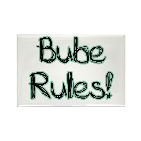 Bube Rules! Rectangle Magnet