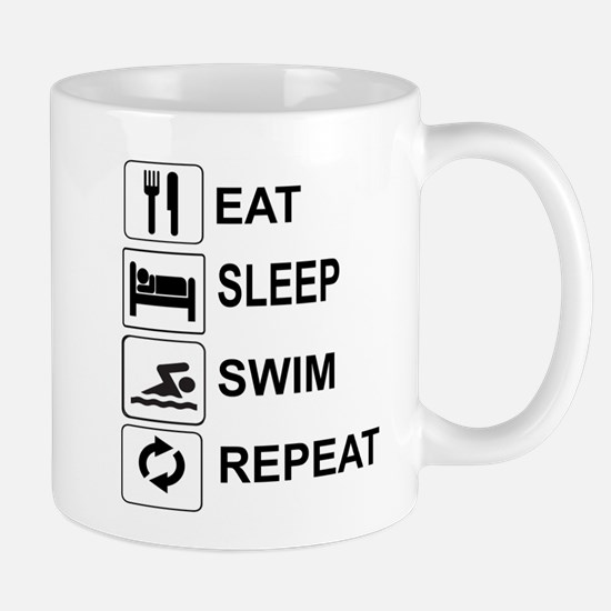 EAT, SLEEP, SWIM, REPEAT Mugs
