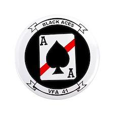 """VFA 41 Black Aces 3.5"""" Button"""