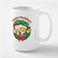 Garfield & Odie Happy Holidays Large Mug