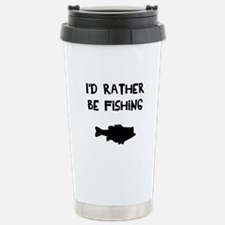 I'd rather be fishing Travel Mug