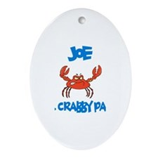 Joe - Mr. Crabby Pants Oval Ornament