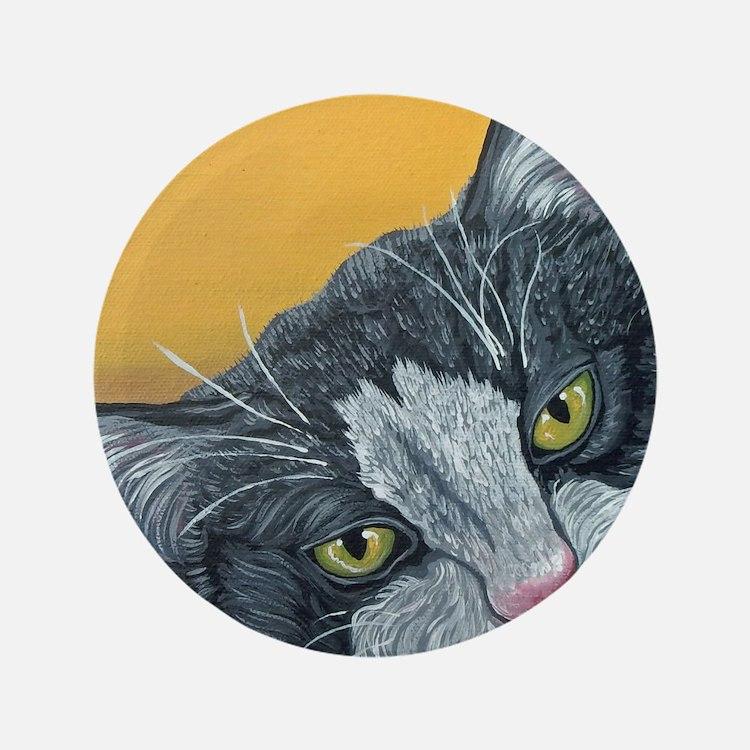 """Tuxedo Cat 3.5"""" Button (100 pack)"""