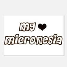 mY heart Micronesia Postcards (Package of 8)