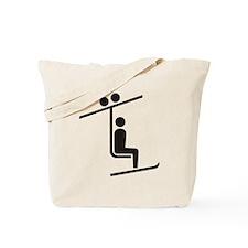 Ski Lift Tote Bag