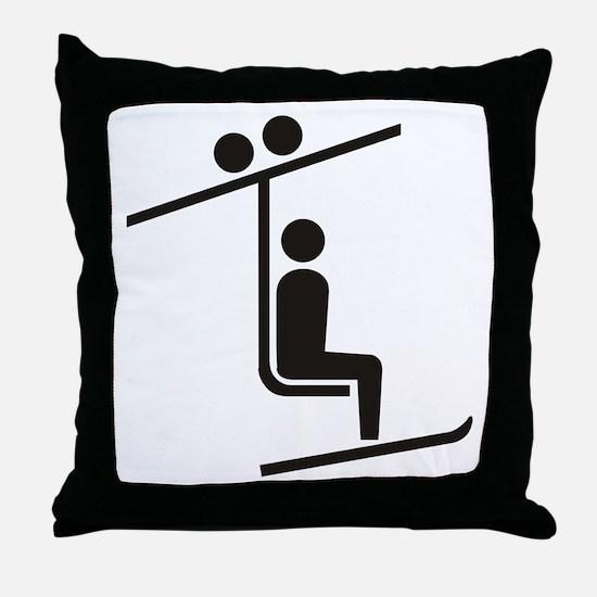 Ski Lift Throw Pillow