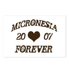 Cute I love micronesia Postcards (Package of 8)