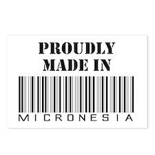 Cute Micronesia rocks Postcards (Package of 8)
