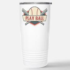 Play Ball Baseball Stainless Steel Travel Mug
