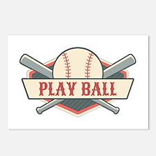 Play Ball Baseball Postcards (Package of 8)