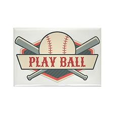 Play Ball Baseball Rectangle Magnet