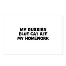 My Russian Blue Cat Ate My Ho Postcards (Package o