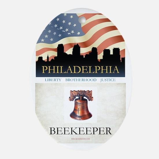 Philadelphia Beekeeper Oval Ornament