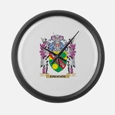 Emerson Coat of Arms (Family Cres Large Wall Clock