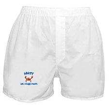Matt - Mr. Crabby Pants Boxer Shorts