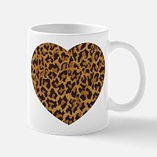 Brown Gold Leopard Print Mugs
