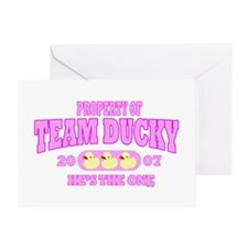 TEAM DUCKY PINK Greeting Card