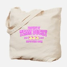 TEAM DUCKY PINK Tote Bag