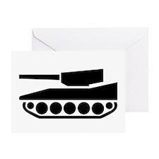 Tank Crossing Greeting Card