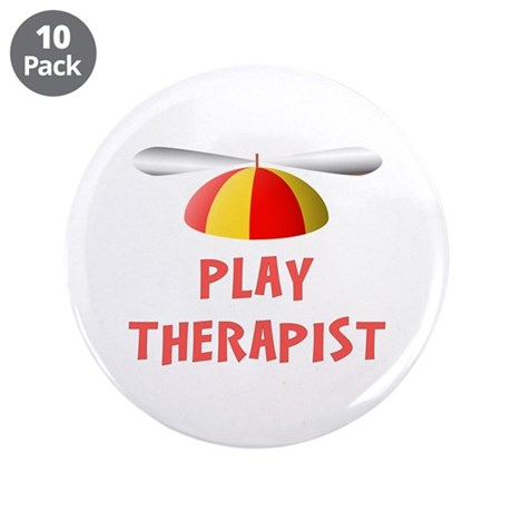 "Play Therapist 3.5"" Buttons (10 pack)"