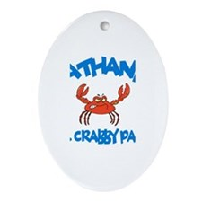 Nathaniel - Mr. Crabby Pants Oval Ornament