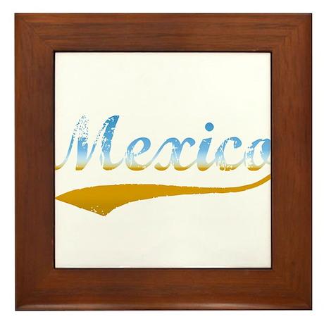 Beach Mexico Framed Tile