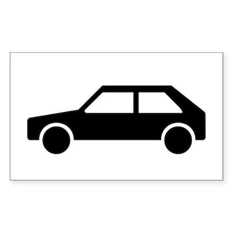 Retro Car Rectangle Sticker