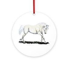 White Horse Ornament (Round)