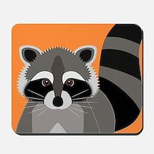 Raccoon Mischief Mousepad